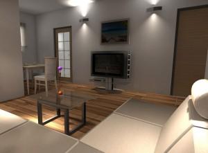 Projekcija dnevne sobe