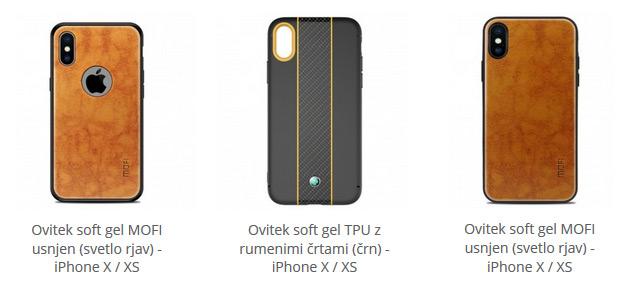 Soft gel ovitki za iPhone