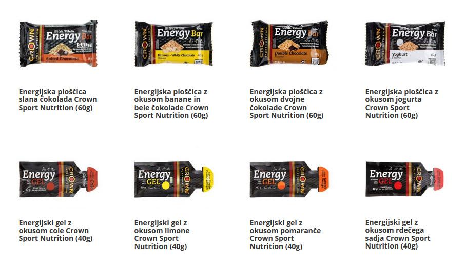 Energijske ploščice in geli